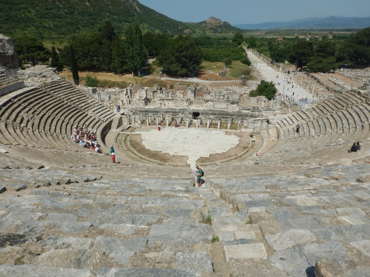 Amphitheatre Ephesus - capacity of 25,000 people.
