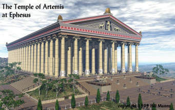 Image of how the Temple of Artemis would have looked in its prime.