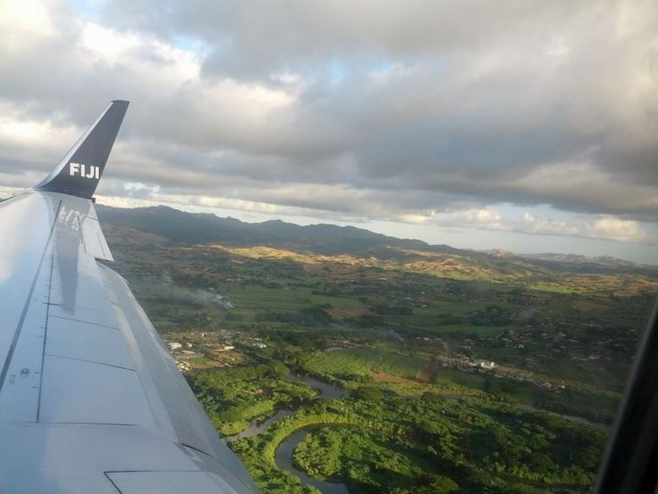 0 flying into Fiji