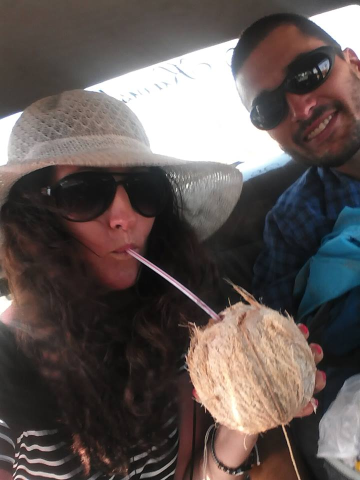 Steve and Me chilling with a coconut