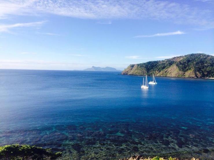 View from Navandra top of island
